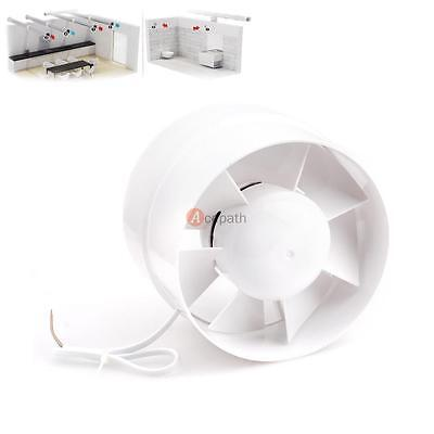 """6"""" Inch Inline Duct Booster Fan Cooling Vent Fan Exhaust Blower ABS Bathroom"""