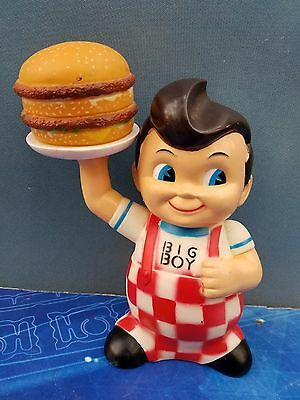 Colorful Vintage Frischs, Bobs, Shoneys Big Boy Bank with Rare Double Hamburger
