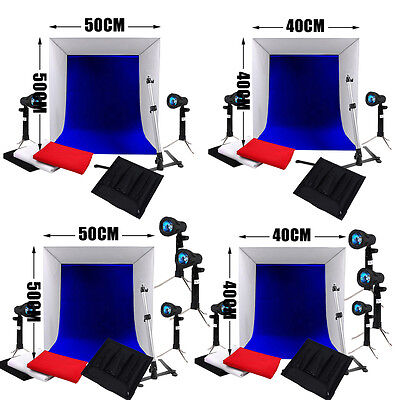Photo Studio 40cm/ 50cm Tent Cube Softbox Light Soft Box Lighting Backdrops Kit