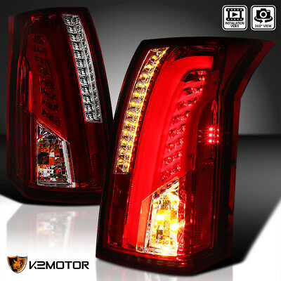 2003-2007 Cadillac CTS Red/Smoke Lens LED Bar Tail Lights Brake Lamps Left+Right