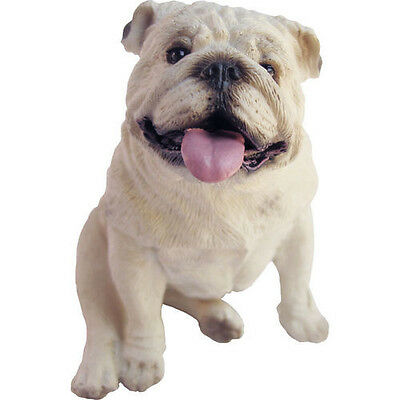 ♛ SANDICAST Dog Figurine Sculpture Bulldog White
