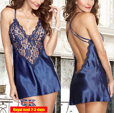 Hot Sexy/Sissy Women Lace Lingerie Babydoll Slip Nightdress Nightie 4Size S-XL