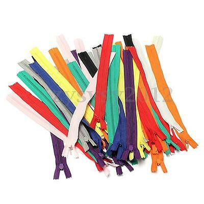 """50pcs 11"""" Nylon Invisible Zips Concealed Zippers Coil Sewing End Closed Clothes"""