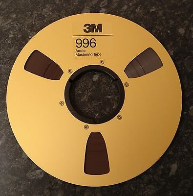 """Brand new M3 10.5, 10 1/2"""" x 1/4"""" Reel with Tape 996"""