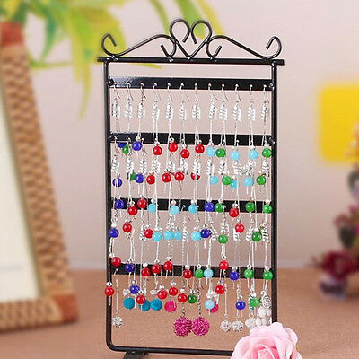 48 Holes Metal Ears Display Show Jewelry Rack Stand Organizer Holder Lot #V6