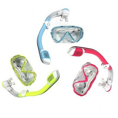 Children Junior Diving Mask And Snorkel Set Water Goggle Swimming Scuba #V6