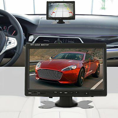 Car TFT LCD Display 7 Inch Remote Vehicle Reverse Rearview Parking Monitor B@