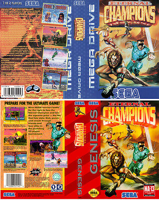 Eternal Champions Sega Mega Drive PAL NTSC Replacement Box Art Case Insert Cover