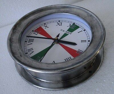 U.S. Navy Marine RADIO ROOM Clock - LARGE -  ROMAN DIAL - 100% SATISFACTION (A)