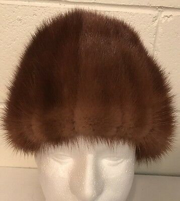 Vintage Doris New York Brown Mink Fur Hat Rare!