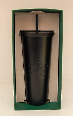 Starbucks Matte Black Stainless Steel Cold Cup 24 oz Holiday 2016 SOLD OUT