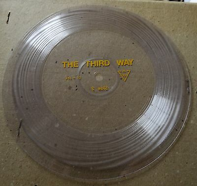"The Third Way (Clear Two Sided 7"" Flexi Disc) Religious, Xian, Spiritual"