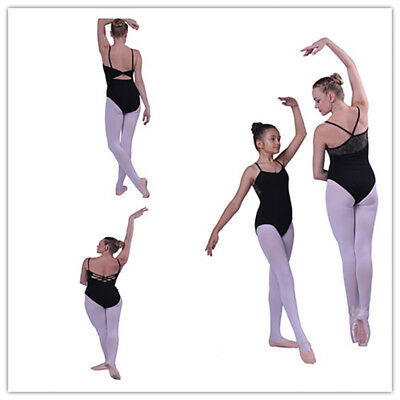 Black Adult Girl Unitards Woman Ballet Dance Leotard Gymnastic Sleeveless Leotar