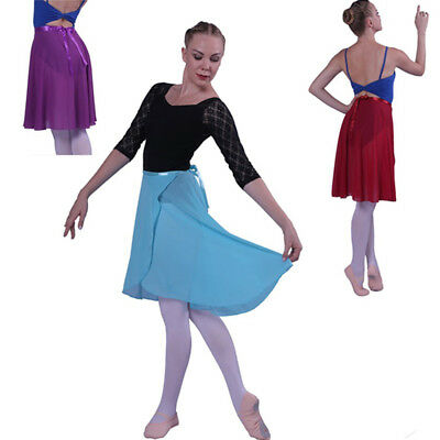 Adult Girl Women Ballroom Chiffon Ballet Tutu Dance Skirt Skate Wrap Scarf  23in