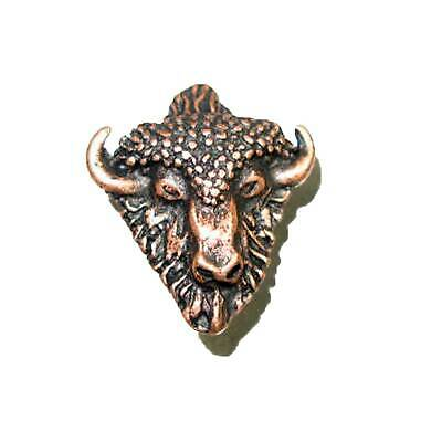 Buffalo Head Splashback Concho Decorative Leathercraft Accessory