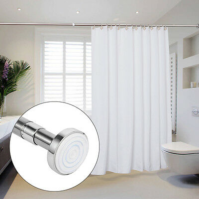 UK Seller Telescopic Shower Curtain Rail Extendable Rail Rod Pole Rods Rail Bath