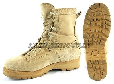 US Army Youth Kids Boys Military Waterproof Leather Goretex ICB Boots 3.5 W Bell