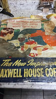 Vintage Maxwell Coffee Poster (1950s)
