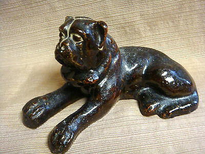 Unique MASTIFF SCULPTURE Handcrafted & Signed by Dogs Owner One-of-a-Kind Piece