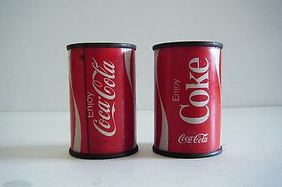 """Vintage Coca Cola Tin Salt And Pepper Shakers 2 1/2"""""""