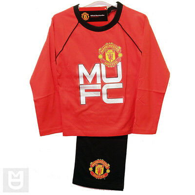 MANCHESTER UNITED Pyjama set Red Top Black Pants 5-6 Year
