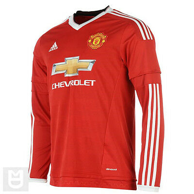 MANCHESTER UNITED Kids 13-14 Year Home Shirt 2015/16 Long Sleeve