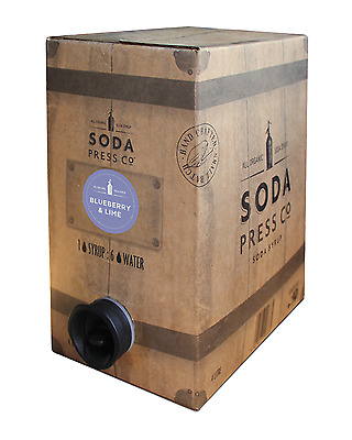 Soda Press Co Blueberry and Lime (Organic Soda & Mixing Syrup) 4 Litre Box and B