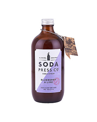 Soda Press Co Blueberry and Lime (Organic Soda & Mixing Syrup) 500mL