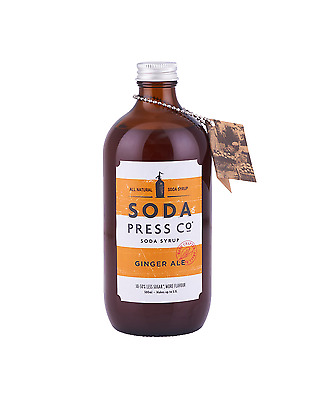 Soda Press Co Ginger Ale (Organic Soda & Mixing Syrup) 500mL Cocktail Mixer