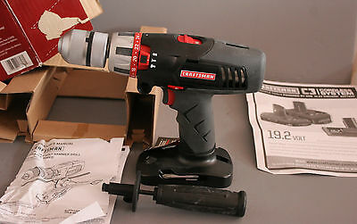 New Craftsman 1/2 in. Hammer Drill/Driver 19.2 Volt (20016)
