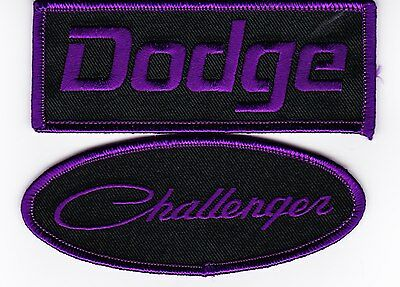 Dodge Challenger Black Purple Sew/iron On Patch Embroidered Hemi Mopar Car