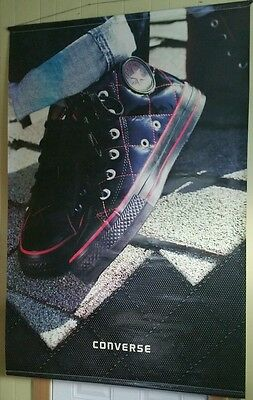 Converse Chuck Taylor All star Vinyl Poster 72 x 48 Quilted Patent leather HUGE!