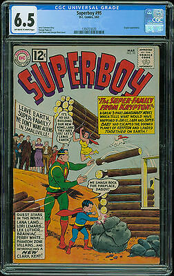 Superboy 95 CGC 6.5 OW/White pages 1962 DC Comics