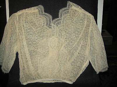 LP22 Antique Victorian Lace Fashion Blouse undergarment bridal sewing dress