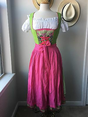 Authentic Oktoberfest German Austrian Dress Dirndl Lederhosen Sz 4/6 Octoberfest