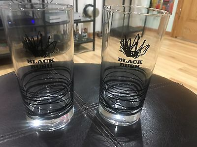 Black Bush Irish Whiskey Set Of Two Glasses Mixed Drinks Alcohol