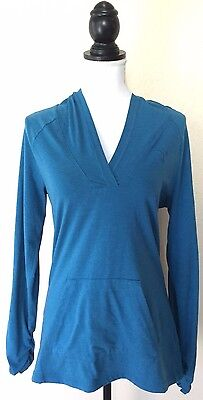 Puma Women's Blue Active Yoga Running Workout Stretchy Long Sleeve Hoodie M
