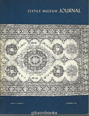 Textile Museum Journal December 1963 Soumak-Woven Rug/Tiahuanaco Tapestry