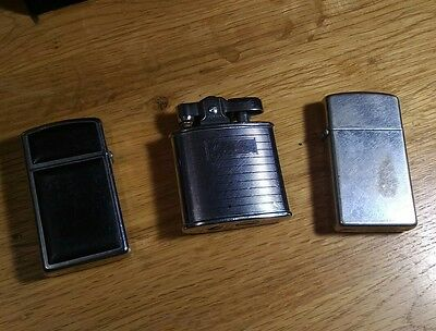 Lot of 3 Vintage Cigarette Lighters (2)  Zippo and (1) Ronson