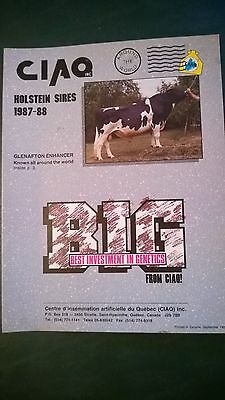 Ciaq Canada 1987-88 Holstein Dairy Cattle Sire Directory - Hanover-Hill Starbuck