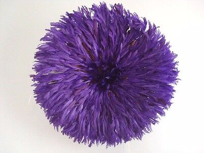 "30"" Purple Handmade Juju Hat Decoration African Feather Headdress Top Quality"
