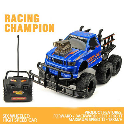 1/10 4CH Off-Road Black RC Toys 6 Wheels Monster Truck Remote Control Truggy UK