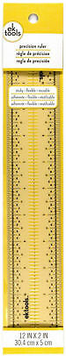 "EK Tools Precision Sticky Flexible Ruler 1/16"" Spaced Holes For Precise Marking"