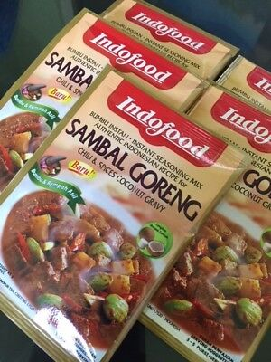 5 X PACKETS IndoFood - SAMBAL GORENG In CHILI & SPICY GRAVY 45 gram - Free Post
