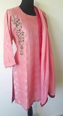 Pakistani , indian party 3piece salwar kameez with Embroidery .