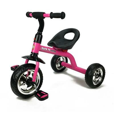 Deluxe Grow with Me Kids Toddler Ride-On Trike Tricycle - Pink