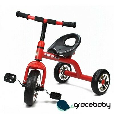 Deluxe Grow with Me Kids Toddler Ride-On Trike Tricycle - Red