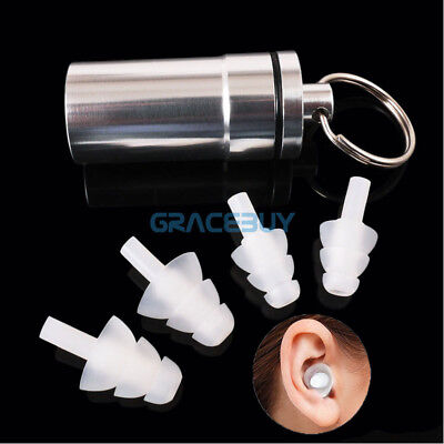 2 Pairs HearSafe Ear Plugs Agaist Loud Sound Earplugs for Musician Concert DJ's