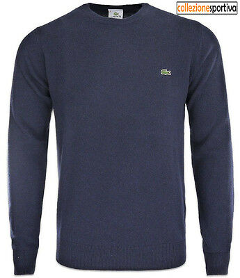 MAGLIONE LANA LACOSTE REGULAR FIT  cod. AH2995-00-166 col. navy blue