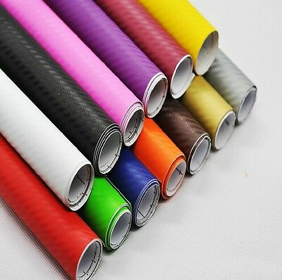 DIY 3D Carbon Fiber Vinyl Wrap Film Sheet Sticker Car Wrap 1520mm x 1000mm